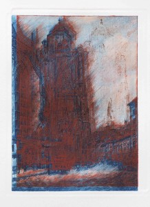 Etching, from 24 views of the northtowerof St. Stephen`s Cathedral, all ca.120 x 240