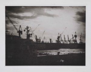 """Photogravure """"Gegenlicht"""" Hamburg 2013 34,7x25,8 (40x50) Edition 6"""