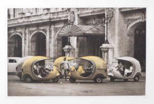 """Photogravure """"Taxi"""" Havanna Kuba 2009 38x24,8 (40x50) Edition 9"""
