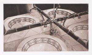 """Photogravure """"der magische Spiegel"""" Sevilla Spain 2008 39,8x23,2 (40x50) Edition 9"""