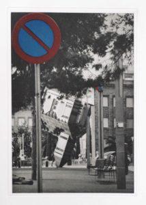 """Photogravure """"halten verboten!"""" Palma di Mallorca 2014 24,1x34,8 (40x50) Edition 9"""