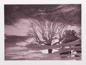 """Photogravure """"verkehrte Ansichten"""" Louvre 2009 39,8x29,8 (40x50) Auflage 9"""