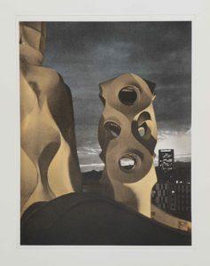 """Heliogravüre """"von Gaudi und Aliens...Barcelona 2008 35x26,7 (40x50) Auflage 9"""